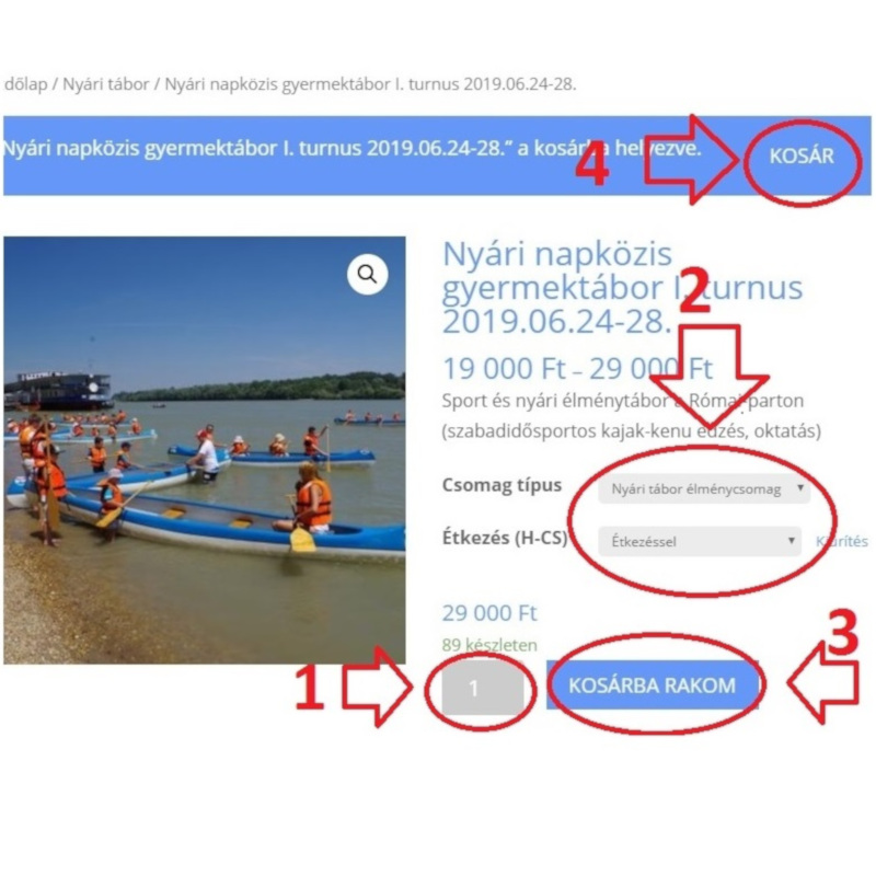 Webshop használati segédlet