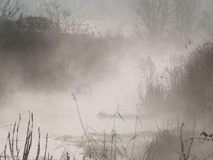 Hévíz vízitúra gőzölgő patak
