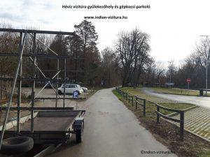 hévíz vízitúra gépkocsi parkoló